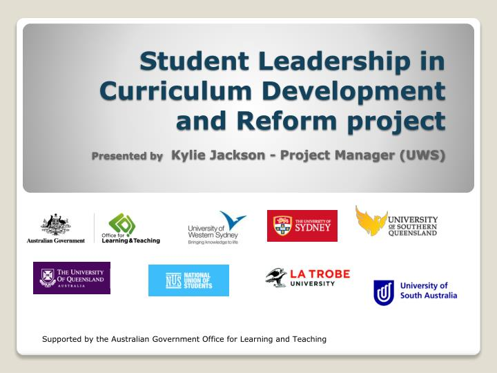 Student Leadership in Curriculum Development and Reform project