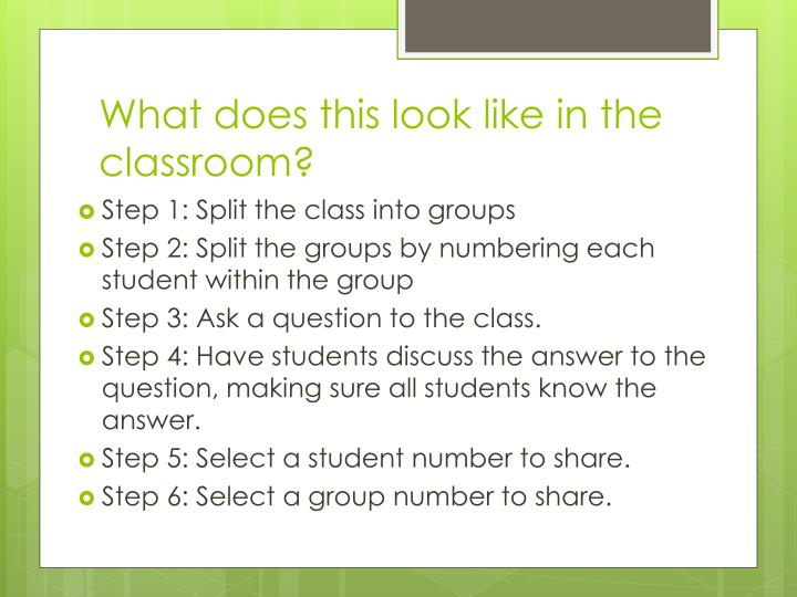 What does this look like in the classroom?