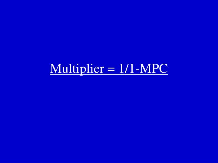 Multiplier = 1/1-MPC