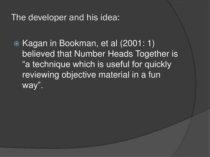 The developer and