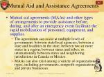 mutual aid and assistance agreements1