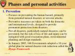 phases and personal activities1