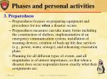 phases and personal activities3
