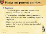 phases and personal activities5