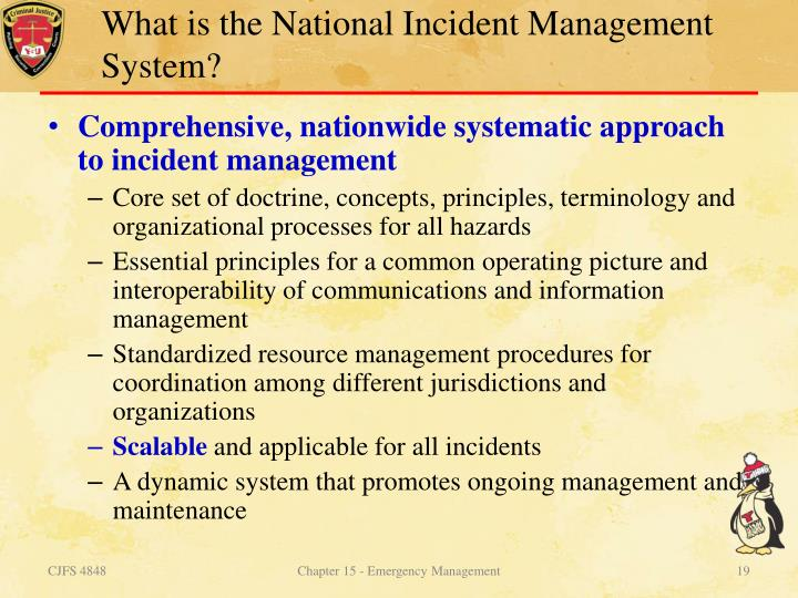 What is the National Incident Management System?