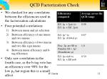 qcd factorization check