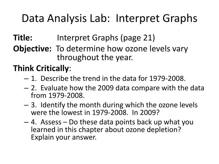 Data Analysis Lab:  Interpret Graphs