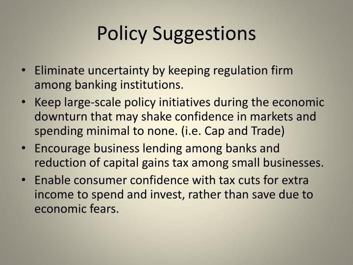 Policy Suggestions