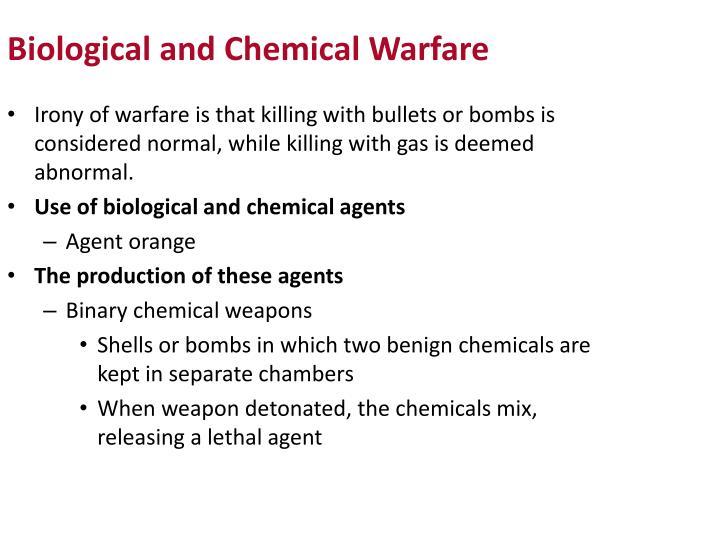 Biological and Chemical Warfare