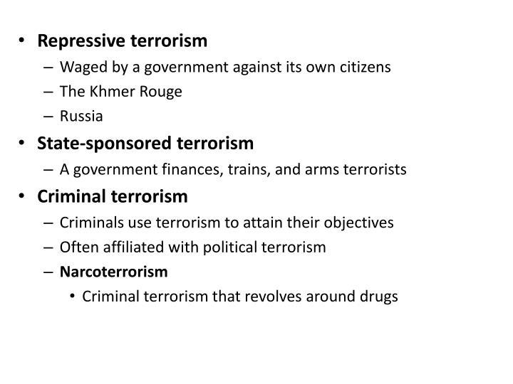 Repressive terrorism