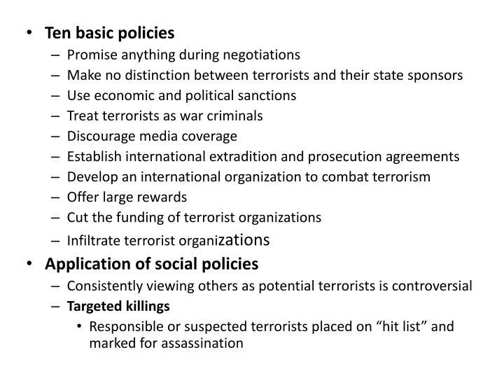 Ten basic policies