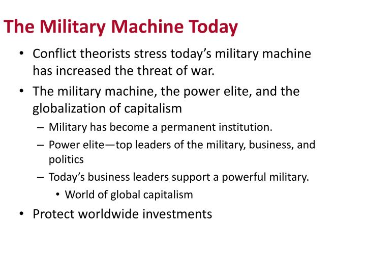 The Military Machine Today