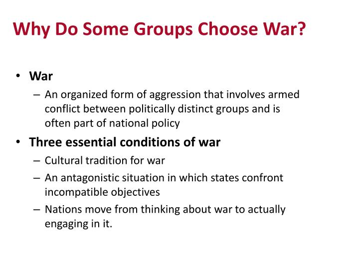 Why Do Some Groups