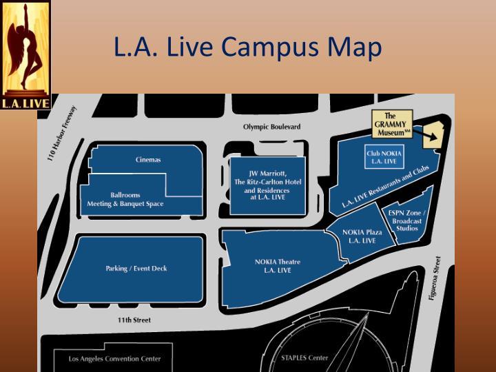 L.A. Live Campus Map