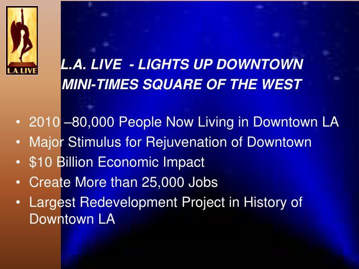 L.A. LIVE  - LIGHTS UP DOWNTOWN