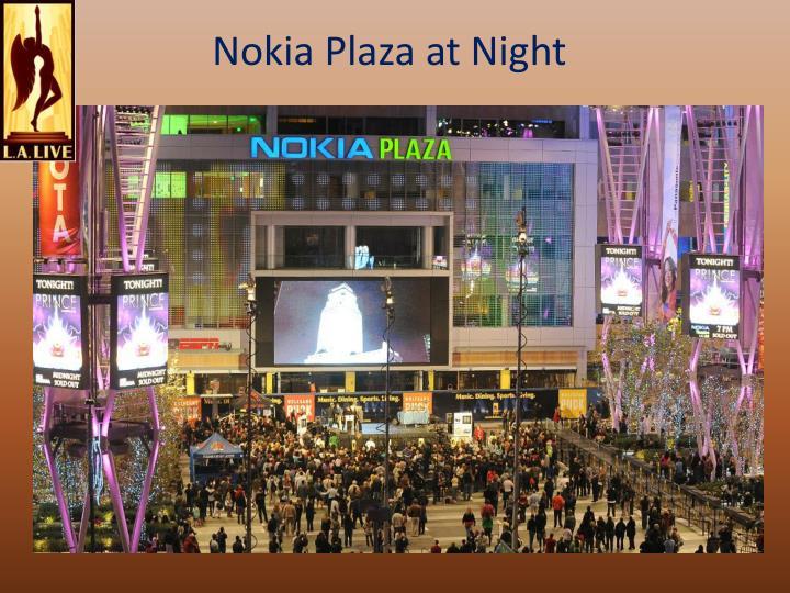 Nokia Plaza at Night