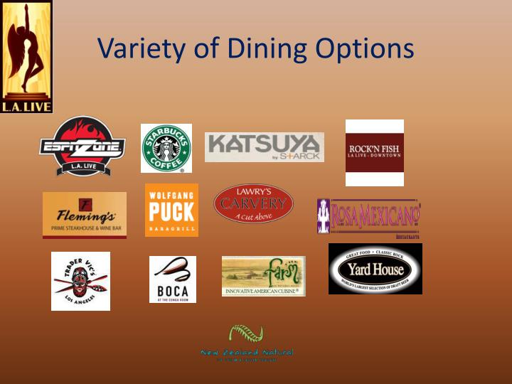 Variety of Dining Options
