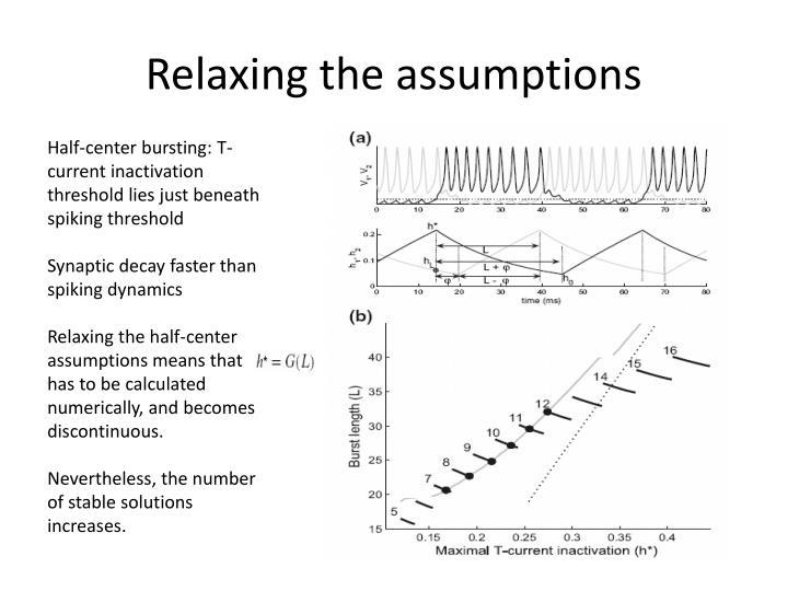 Relaxing the assumptions