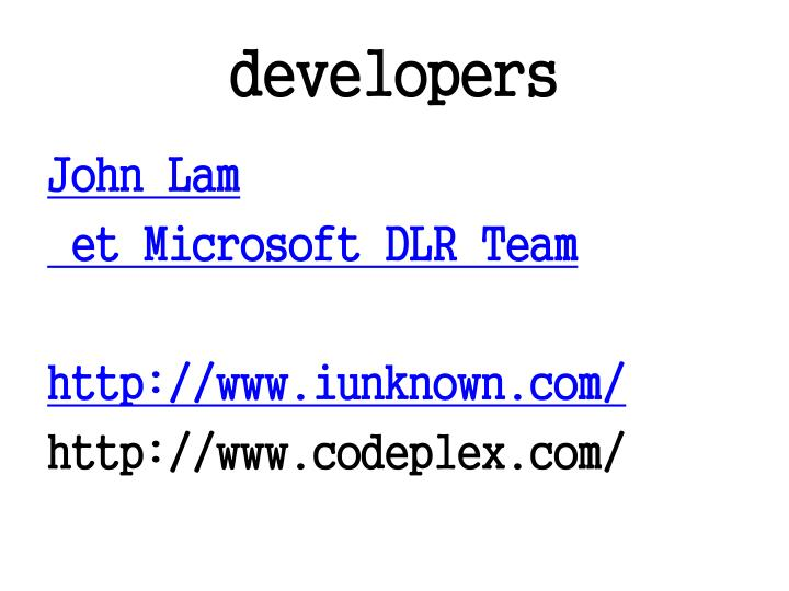 developers