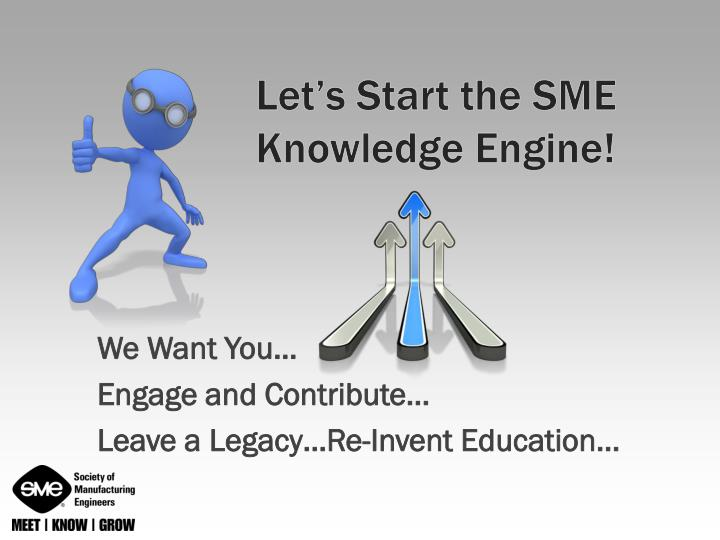Let's Start the SME