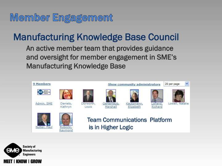 Manufacturing Knowledge Base Council