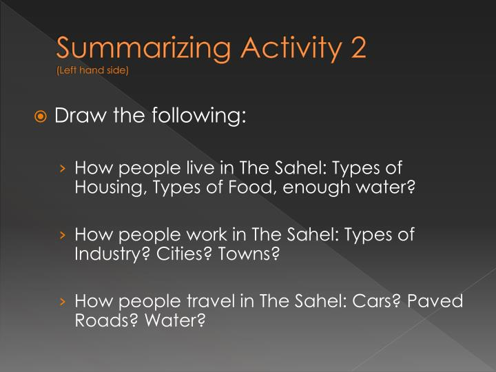 Summarizing Activity 2
