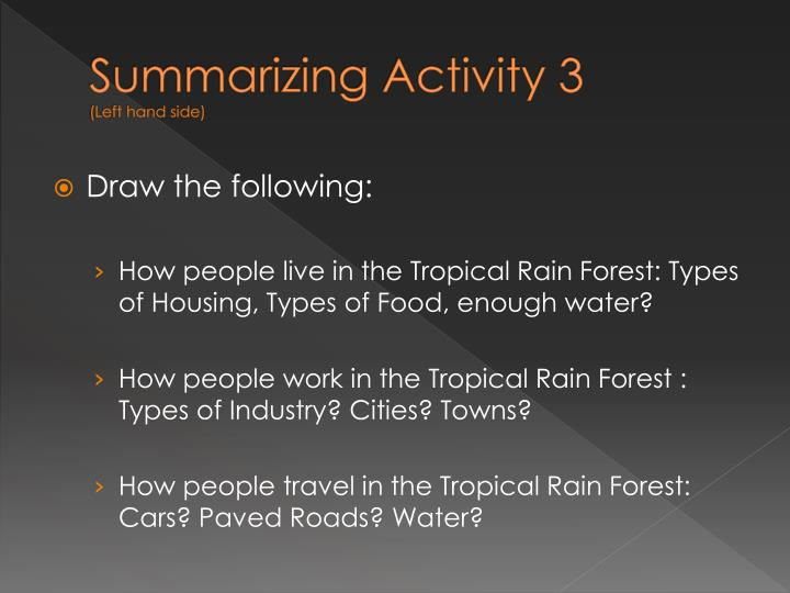 Summarizing Activity 3