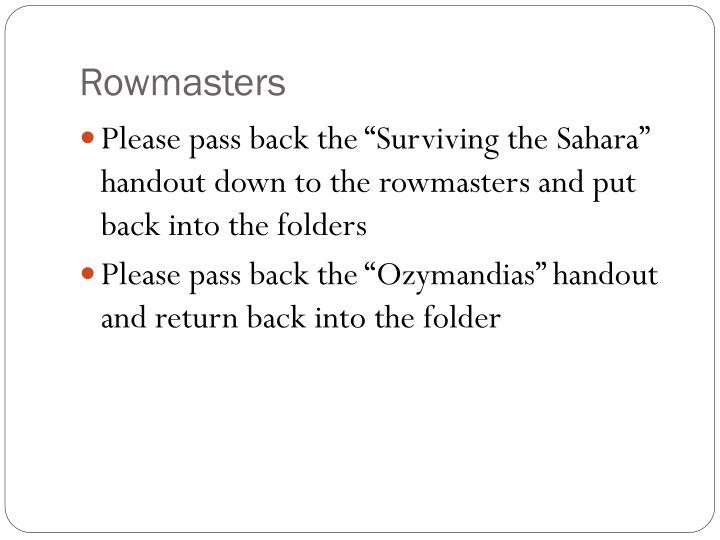 Rowmasters