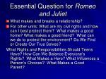 essential question for romeo and juliet