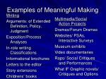 examples of meaningful making