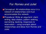 for romeo and juliet