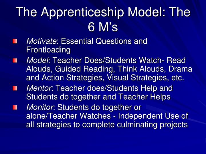 The Apprenticeship Model: The 6 M's