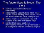 the apprenticeship model the 6 m s