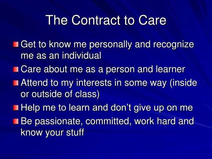 The Contract to Care