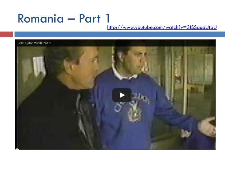 Romania – Part 1