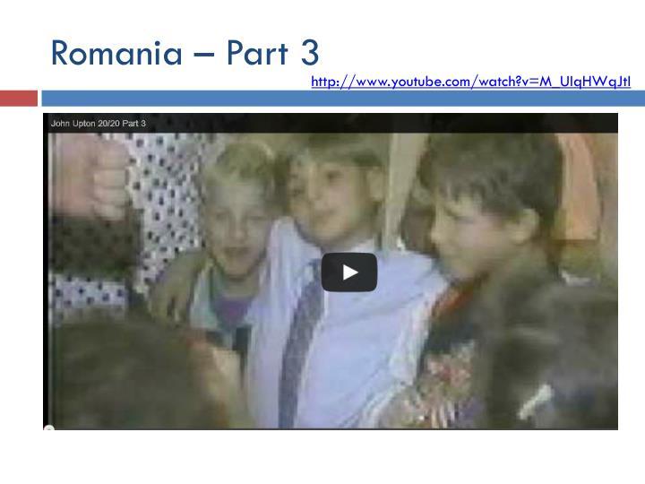 Romania – Part 3