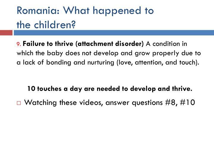 Romania: What happened to