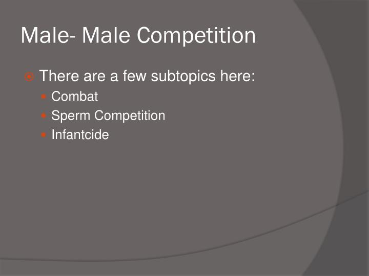 Male- Male Competition