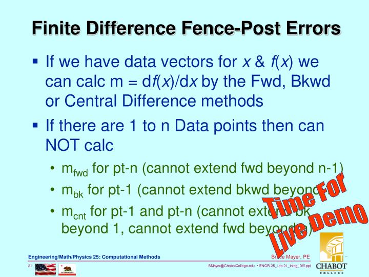 Finite Difference Fence-Post Errors