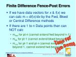 finite difference fence post errors