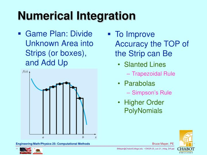 Game Plan: Divide Unknown Area into Strips (or boxes), and Add Up