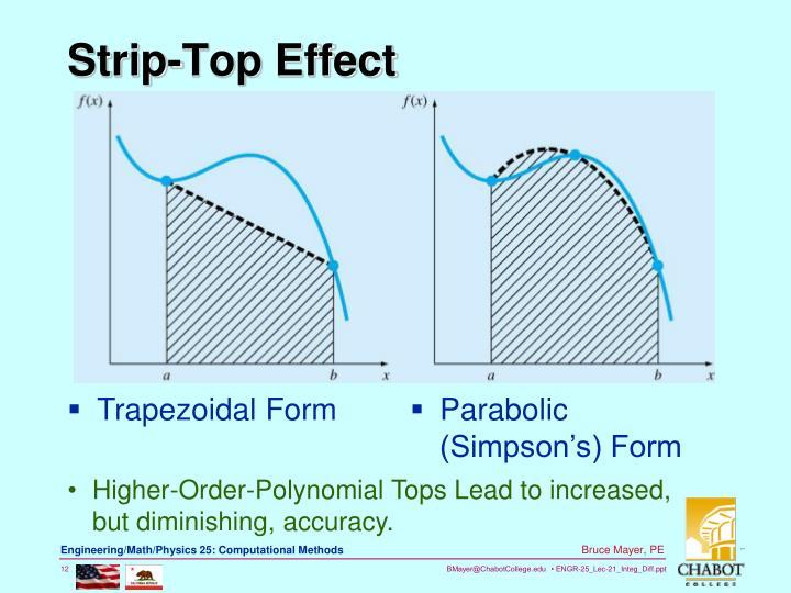 Strip-Top Effect
