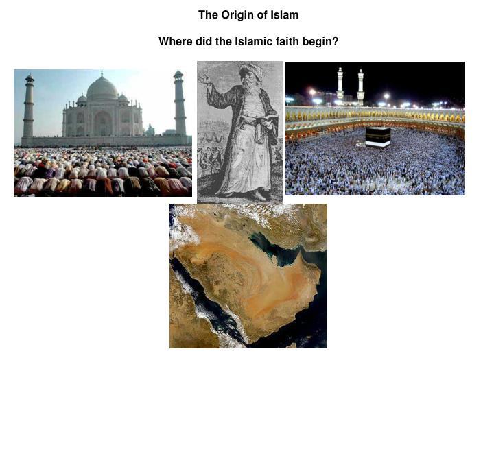 The Origin of Islam