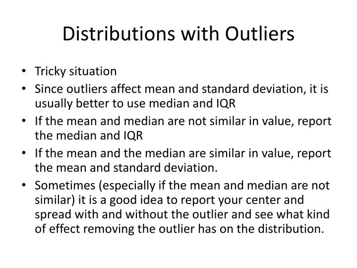 Distributions with Outliers
