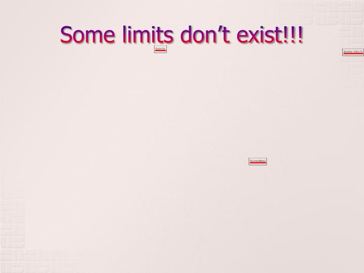 Some limits don't exist!!!