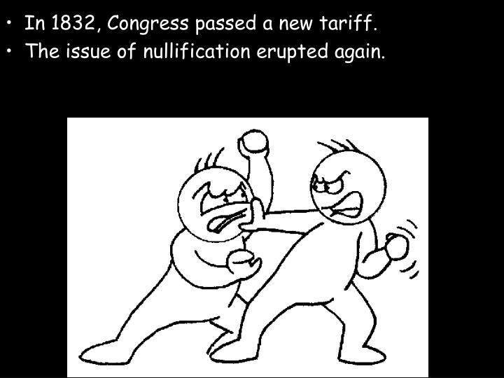 In 1832, Congress passed a new tariff.