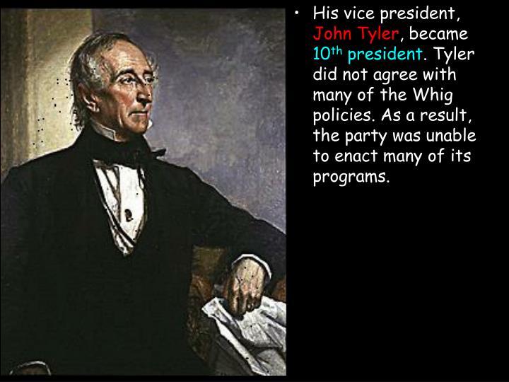His vice president,