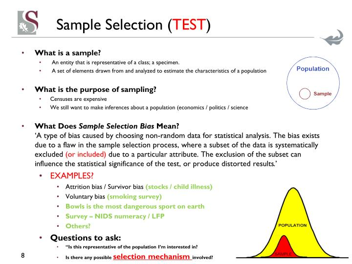 Sample Selection (
