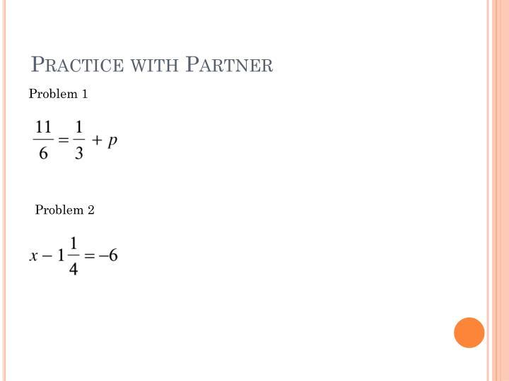 Practice with Partner