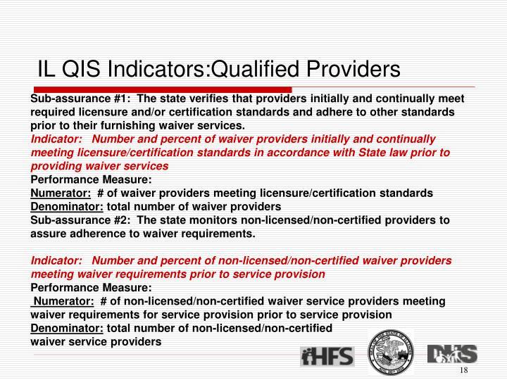 IL QIS Indicators:Qualified Providers
